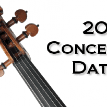 2019 Concert Dates Announced